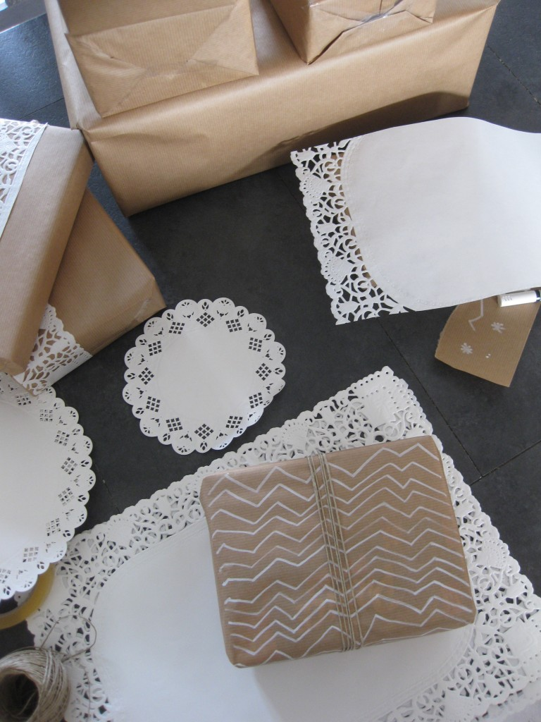 Vitrine de Noël-Paquet Cadeaux Kraft-DIY