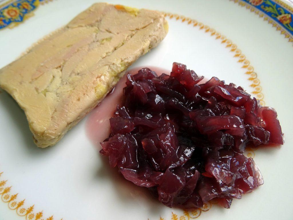 Foie gras et sa confiture d'oignon.