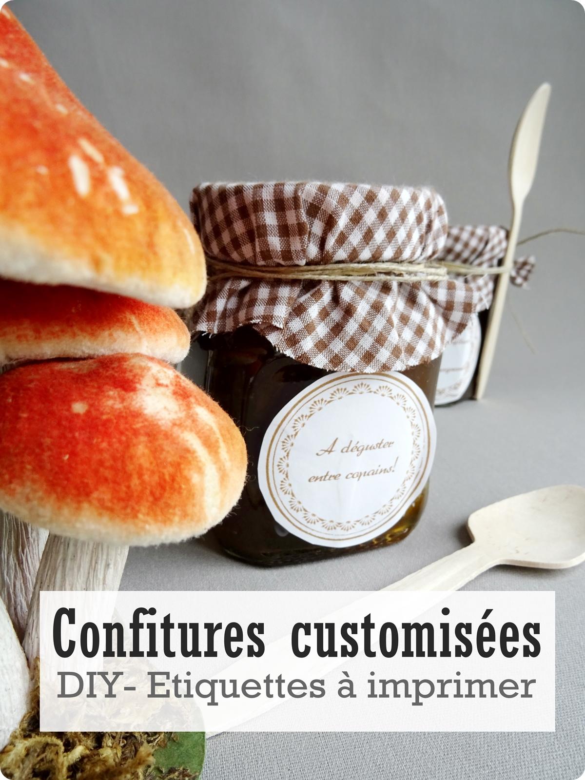 Pots de confiture customisés-DIY-Etiquettes à imprimer